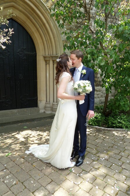 Bespoke wedding dress by Kate Edmondson, London designer