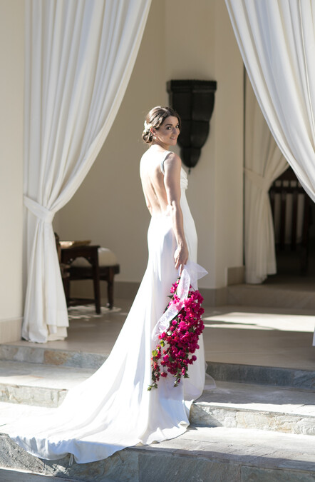 Backless wedding dress by Kate Edmondson