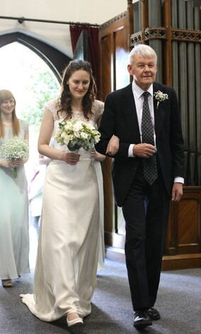 Lovely bride Alice in a Kate Edmondson design