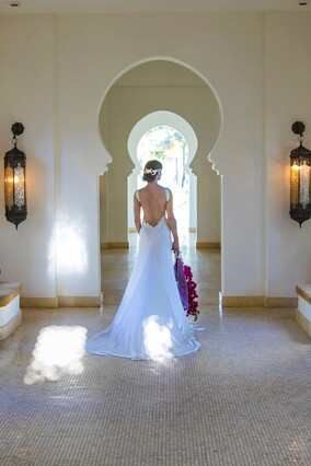 Zanzibar wedding: dress designed in London by Kate Edmondson bridal couture