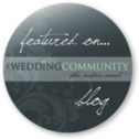 Featured on Wedding Community blog